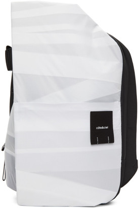 Côte and Ciel White Medium Layered Isar Backpack