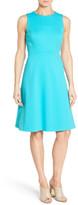 Classiques Entier Sleeveless Interlock Fit & Flare Dress (Petite)