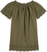 European Culture Cotton Off-The-Shoulder Dress