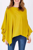 NEW FOIL Womens Ponchos Hot Merino Sybil Shawl Size OneSize Yellow