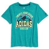 adidas 'Earn Your Stripes' T-Shirt (Toddler Boys & Little Boys)