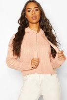 boohoo Cable Knit Hoodie