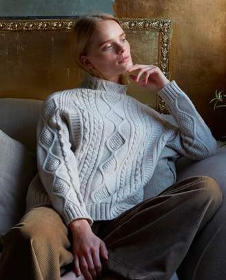 Beaumont Organic Blythe Superfine Lambswool Jumper In Swansdown - Swansdown / Large