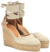 Thumbnail for your product : Castañer Carina canvas wedge espadrilles
