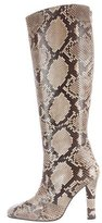 Christian Louboutin Snakeskin Knee-High Boots
