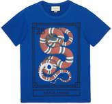 Gucci Flora Snake print linen T-shirt