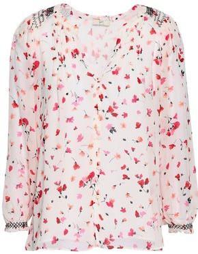 Joie Gontilda Floral-print Silk-georgette Blouse