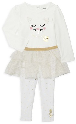 Juicy Couture Baby Girl's 2-Piece Cotton-Blend Top Tutu Leggings Set