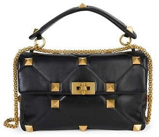 Valentino Roman Stud Leather Shoulder Bag