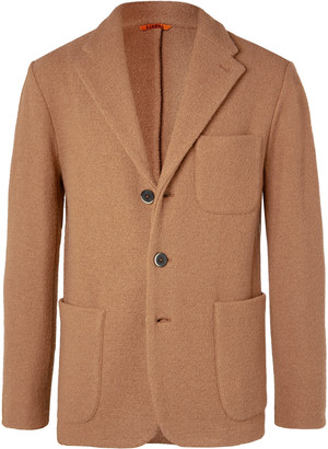 Barena Camel Slim-Fit Unstructured Virgin Wool-Boucle Blazer