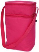 J L Childress 6 Bottle Cooler Tote Bag, Pink/Light Pink by