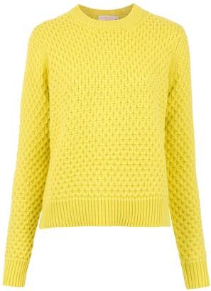 Tory Burch Honeycomb-Knit Wool Jumper