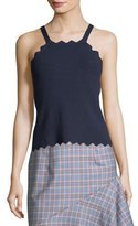 Milly Pointed Scallop Tank Top