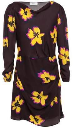 A.L.C. Draped Floral-print Silk-georgette Mini Dress