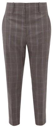 Etoile Isabel Marant Noah Checked Trousers - Dark Grey