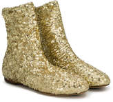 Dolce & Gabbana sequin embellished ankle boots