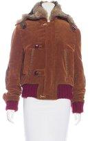 DSQUARED2 Fur-Trimmed Corduroy Jacket