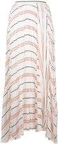 Forte Forte striped A-line midi skirt - women - Silk - I