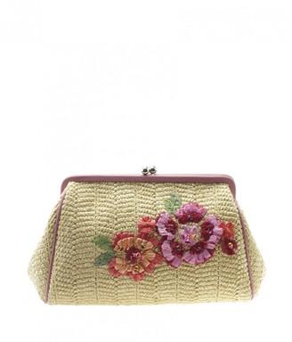 Christian Dior Beige Wicker Clutch bags