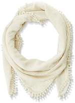Pieces Women's Plain Scarf - White -