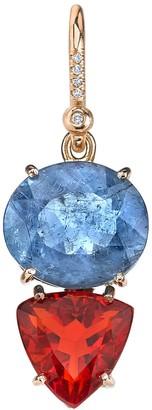 Irene Neuwirth One-Of-Kind Aquamarine And Fire Opal Single Earring