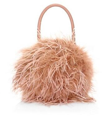 Loeffler Randall Zadie Feather Top Handle Bag
