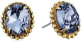 Sorrelli Oval Crystal Adorned Stud Earrings