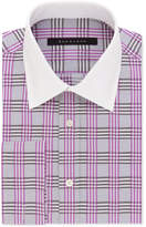 Sean John Men's Classic/Regular Fit Purple Check French Cuff Dress Shirt