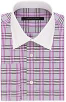Sean John Men's Classic/Regular Fit Purple Check French Cuff Dress Shirt