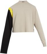 Raf Simons Tape-print bi-colour cotton sweatshirt