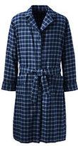Classic Men's Flannel Robe-Black
