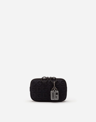 Dolce & Gabbana Neoprene Palermo Tecnico Crossbody Bag With All-Over Detailing