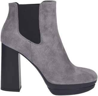 Hogan Woman H391 Grey Ankle Boots