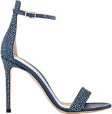 Gianvito Rossi WOMEN'S GLAM ANKLE-STRAP SANDALS-NAVY SIZE 8