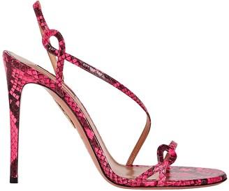Aquazzura Serpentine 105 Embossed Sandals