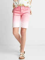 Stretch dip-dye bermuda shorts