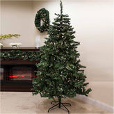 Asstd National Brand 6.5' Pre-Lit Traditional Mixed Pine Artificial Christmas Tree with Clear Lights
