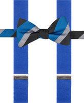 Alfani Men's Mars Stripe Bow Tie & Suspender Set, Only at Macy's