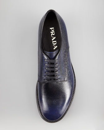 Prada Textured Leather Lace-Up Shoe