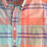 J.Crew Indian cotton short-sleeve popover in spearmint plaid