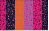 "Kess InHouse Anneline Sophia ""Tropical Seeds"" Pink Orange Decorative Doormat, 24 by 36-Inch"