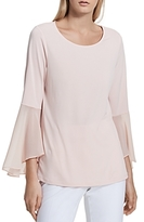Calvin Klein Mixed Media Bell Sleeve Top