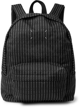 Maison Margiela Logo-Embroidered Canvas Backpack