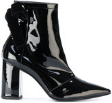 Robert Clergerie velvet bow ankle boots
