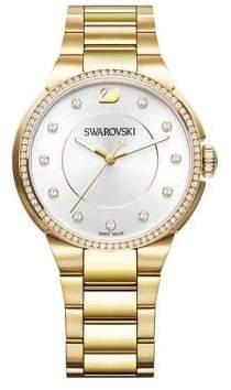 Swarovski City Goldtone Stainless Steel Bracelet Watch
