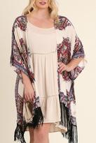 Umgee USA Red Printed Kimono