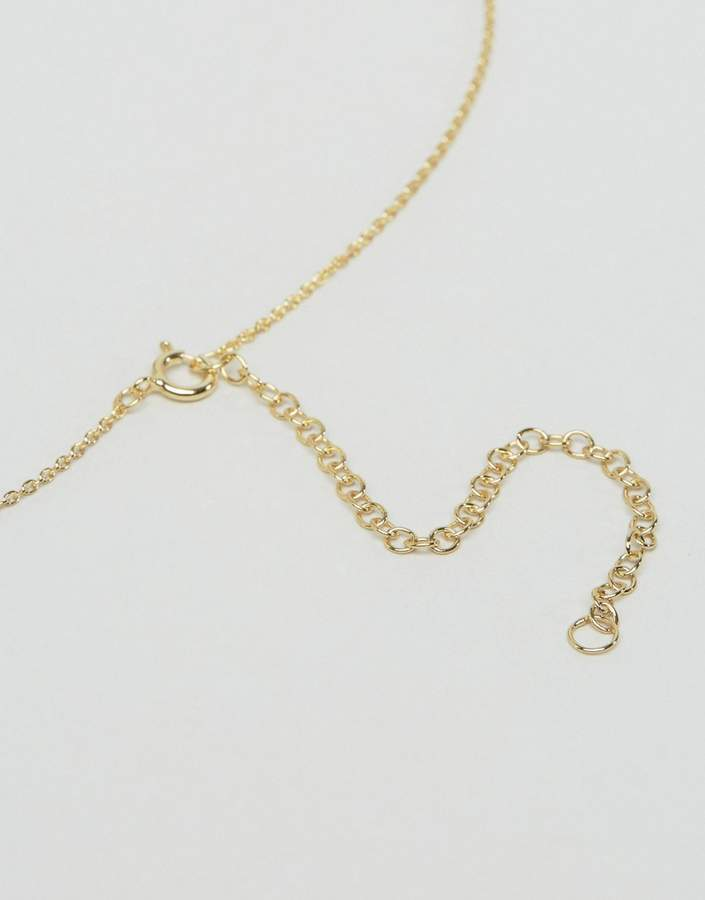 Asos Gold Plated Sterling Silver Faux Pearl Necklace