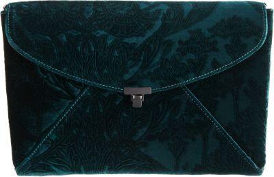 L'Wren Scott Stamped Velvet Lady Clutch