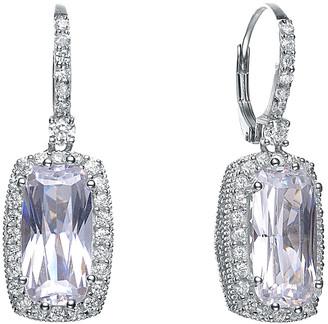 Genevive 14K Over Silver Cz Drop Earrings