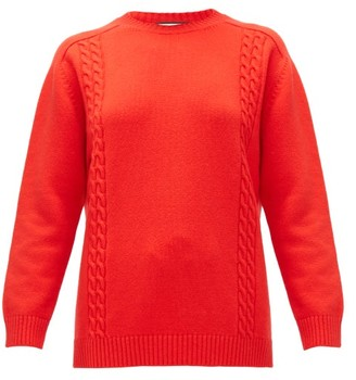 Gucci GG-embroidered Wool Sweater - Red